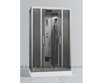 Душ. кабина АRCUS AS-119 120*80*215 низ.под., зад. стенки мат.сереб. ,стекла мат.,проф,сереб. 5 к