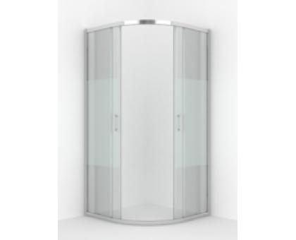 Душевое ограждение ERLIT ER10209D-63 (90*90*200) Радиусное, ст. Матовое 6мм 2 двери раздвижные1к.