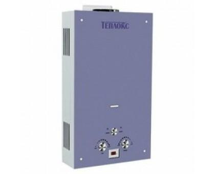 Газовый водонагреватель ТЕПЛОКС ГПВС-10-ГЛ1 10л Стекло/Голубое (Мощн. 20 кВт, расход 10л/мин) (2 места)