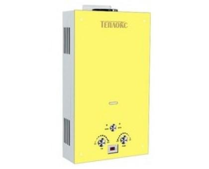 Газовый водонагреватель ТЕПЛОКС ГПВС-10-Ж1 10л Стекло/Желтое (Мощн. 20 кВт, расход 10л/мин) (2 места)