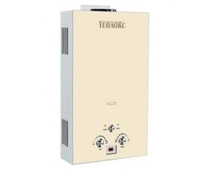 Газовый водонагреватель ТЕПЛОКС ГПВС-10-БЖ1 10л Стекло/Бежевое (Мощн. 20 кВт, расход 10л/мин) (2 места)