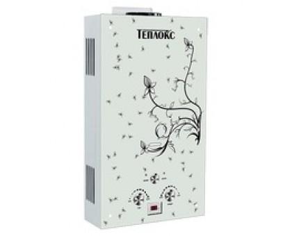 Газовый водонагреватель ТЕПЛОКС ГПВС-10-В1 10л Стекло/Вьюнок (Мощн. 20 кВт, расход 10л/мин) (2 места)