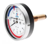 Термоманометр ТМТБ-41Т Dy100 с ЗАДНИМ подключением 1/2