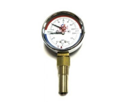 "Термоманометр ТМТБ-31Р Dy80 с нижним подключением 1/2"", 6 бар (0-0,6 МPа) 0-120 (ТМТБ-31Р)"