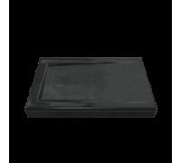Поддон АТРИУМ мрамор 110х80 АНТРАЦИТ (чёрный) (без автослива) ЛП00036
