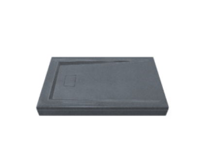Поддон АТРИУМ мрамор 120х80 ГРЕЙ серый (без автослива) ЛП00032