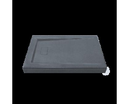Поддон АТРИУМ мрамор 120х90 ГРЕЙ серый (без автослива) ЛП00039