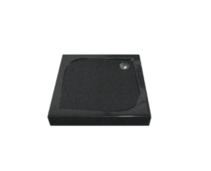 Поддон КВАДРО мрамор 90х90 (без автослива) Антрацит (чёрный) ЛП00046