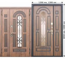 Дверь входная МДФ Vikont 9,5см Грецкий орех 860 х 2050мм