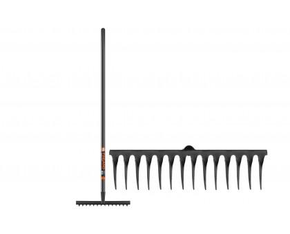 Грабли FINLAND с черным черенком 14 зубьев
