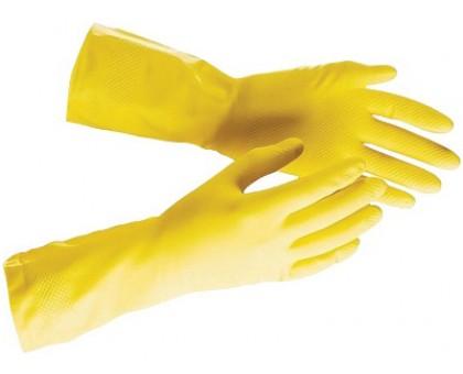 Перчатки хозяйственные, прочный латекс с х/б напылением XL