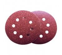 Круг абразивный для липучки ПЕРФО d-125мм Р80 оксид алюминия 10шт Политех