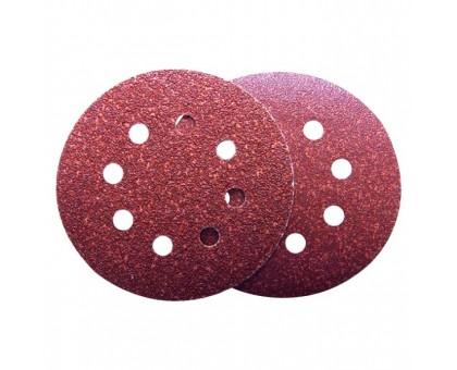 Круг абразивный для липучки ПЕРФО d-125мм Р220 оксид алюминия 10шт Политех