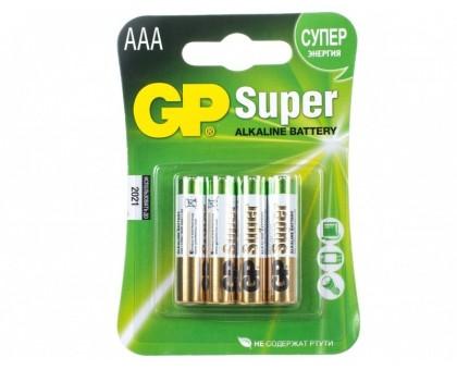 "Батарейки ""GP"" Super 24A 4шт / типАAA купить"