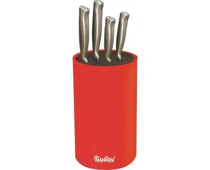 Подставка для ножей GUPPY универсальная с наполнителем из полипропиленового волокна 11х18см красная