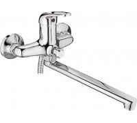 Смеситель для ванны LEDEME длинный излив L2239-B