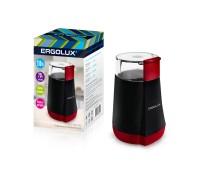 Кофемолка электрическая ERGOLUX ELX-CG02-C43 черно-красная 130Вт 70гр