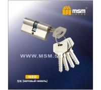 Цилиндровый механизм MSM NW60 SN ключ-ключ матовый никель