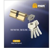 Цилиндровый механизм MSM NW70 PB ключ-ключ полированная латунь