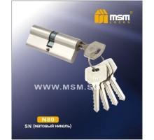 Цилиндровый механизм MSM NW80 SN ключ-ключ матовый никель