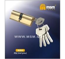 Цилиндровый механизм MSM NW90 PB ключ-ключ полированная латунь
