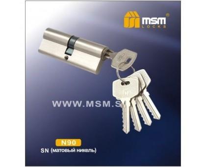 Цилиндровый механизм MSM NW90 SN ключ-ключ матовый никель