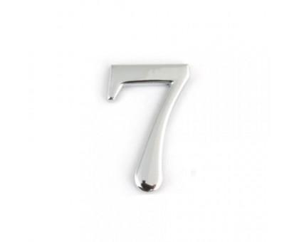 Номерок дверной №7 (малый) серебро