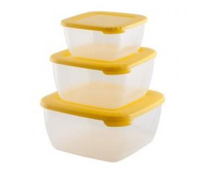 """Набор контейнеров для СВЧ 3шт """"Лайт"""" квадр. (0,46; 0,95; 1,5л) 062299"""