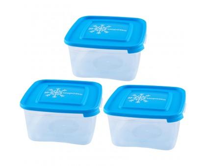 """Набор контейнеров для замораживания продуктов 3шт """"Морозко"""" 1,0л (квадр) 155979"""