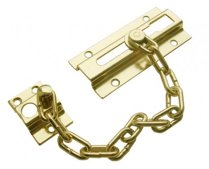 Защелка дверная с цепочкой KL-8206 PB (золото) купить