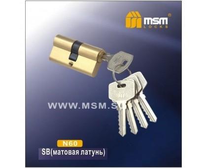 Цилиндровый механизм MSM NW60 SB ключ-ключ матовая латунь
