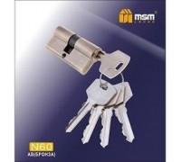 Цилиндровый механизм обычный ключ-ключ N60mm AB бронза