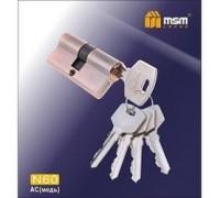 Цилиндровый механизм обычный ключ-ключ N60mm AC медь