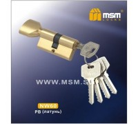 Цилиндровый механизм MSM NW60 PB ключ-вертушка полированная латунь