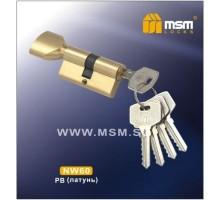 Цилиндровый механизм MSM NW70 PB ключ-вертушка полированная латунь