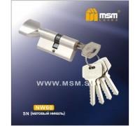 Цилиндровый механизм MSM NW70 SN ключ-вертушка матовый никель