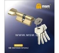 Цилиндровый механизм обычный ключ-вертушка NW60mm SB матовая латунь