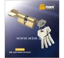 Цилиндровый механизм MSM NW70 SB ключ-вертушка матовая латунь