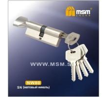 Цилиндровый механизм MSM NW80 SN ключ-вертушка матовый никель