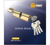 Цилиндровый механизм MSM NW90 PB ключ-вертушка полированная латунь