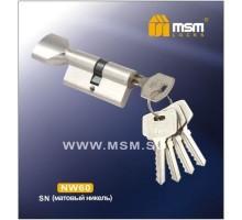 Цилиндровый механизм MSM NW70 СР ключ-вертушка никель