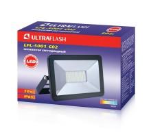 Прожектор Ultraflash LFL-5001 С02 черный, LED 50Вт, 6500К, 230В