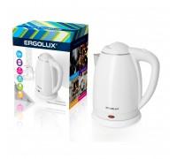 Чайник электрический ERGOLUX ELX-KS02-C01 белый 1,8л 1500-2300Вт