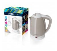 Чайник электрический ERGOLUX ELX-KS02-C18 бежево-белый 1,8л 1500-2300Вт
