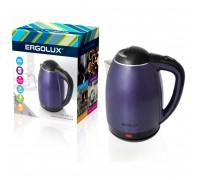 Чайник электрический ERGOLUX ELX-KS02-C49 сине-черный 1,8л 1500-2300Вт