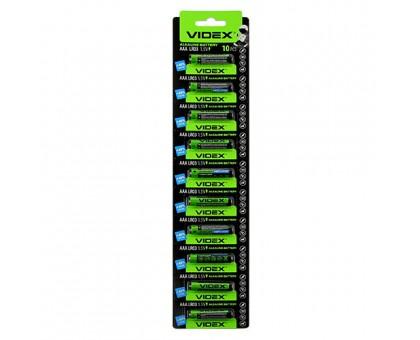 Батарейка VIDEX LR03 AAA 10BP BLISTER CARD
