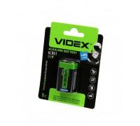 Батарейка VIDEX 6LR61/9V 1BP крона BLISTER CARD