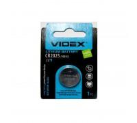 Батарейка VIDEX Lithium CR2025 1BP