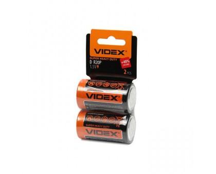 Батарейка VIDEX R20/D 2BP SHRINK CARD