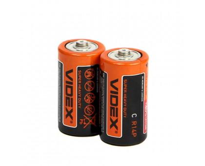 Батарейка VIDEX R14/C 2BP SHRINK CARD